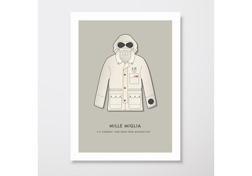Creative Juice MCR Creative Juice MCR A3 print CP Company Mille Milia 1988 goggle jacket beige