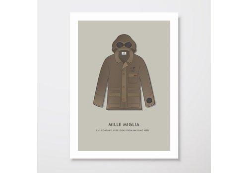 Creative Juice MCR Creative Juice MCR A3 print CP Company Mille Milia 1988 goggle jacket brown