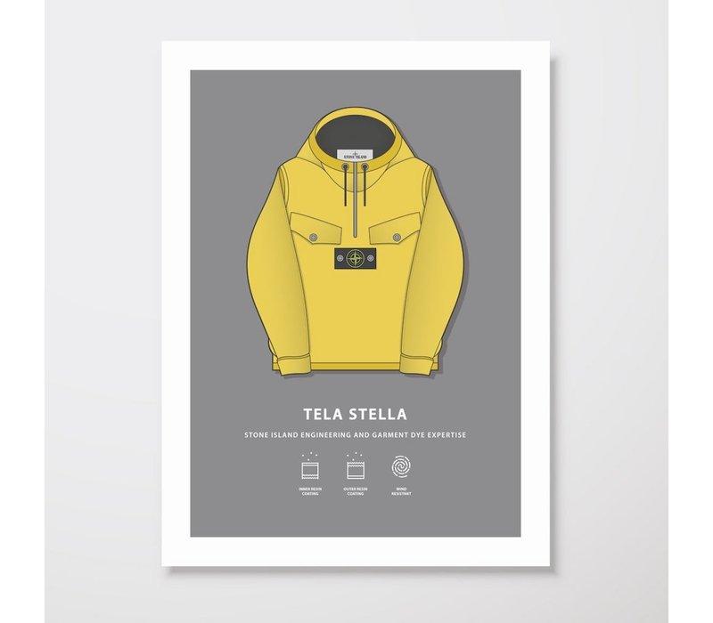 Creative Juice MCR A3 print Stone Island Tela Stella yellow