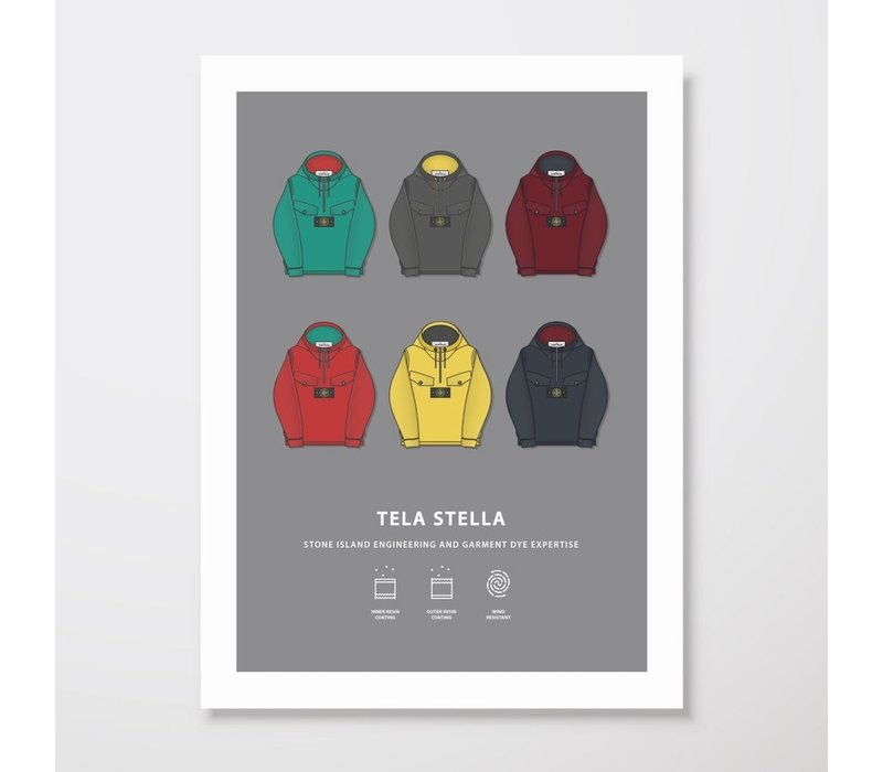 Creative Juice MCR A3 print Stone Island Tela Stella collection