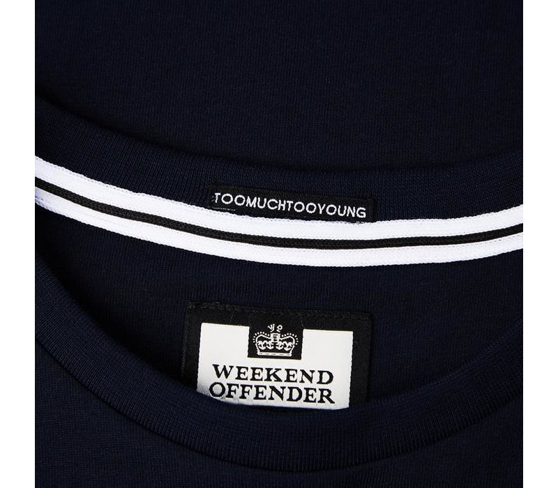 Weekend Offender Smiley t-shirt Navy