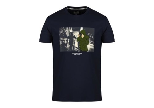Weekend Offender Weekend Offender Smiley t-shirt Navy