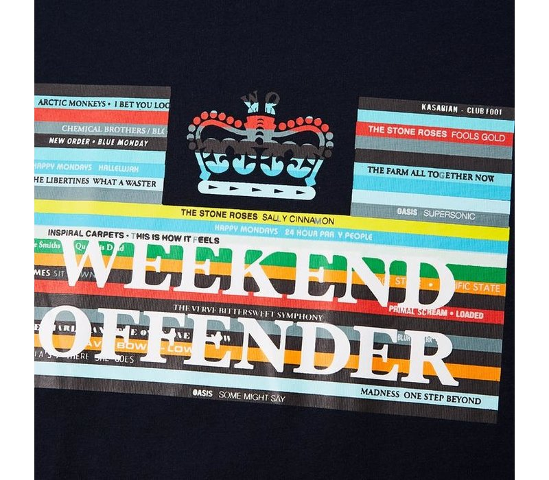 Weekend Offender Spines t-shirt Navy