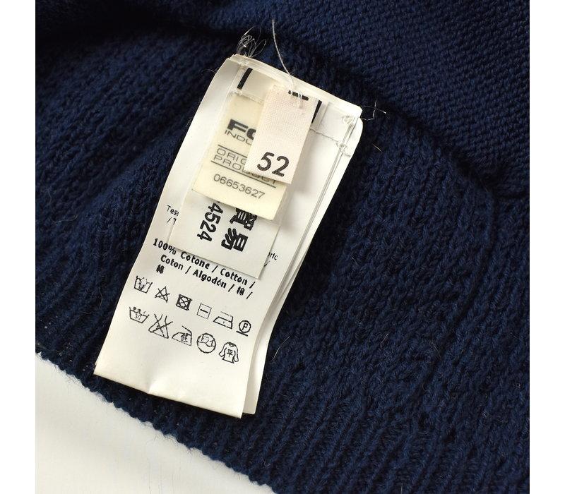 C.P. Company navy knit cotton goggle full zip cardigan 52