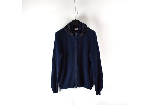 C.P. Company C.P. Company navy knit cotton goggle full zip cardigan 52