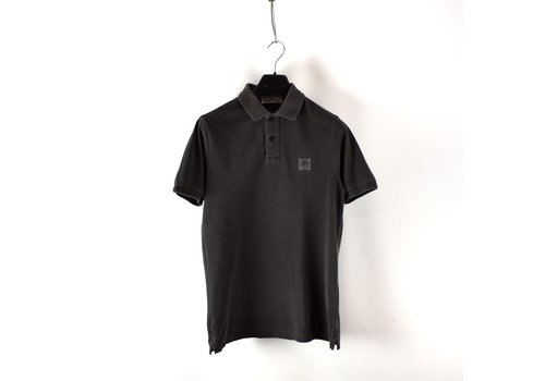 Stone Island Stone Island brown cotton pique short sleeve patch program polo shirt M