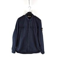 Stone Island navy cotton long sleeve shirt L
