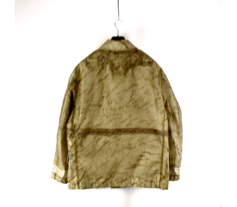 Stone Island green monofilament camo jacket XL