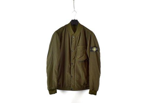 Stone Island Stone Island green reversible nylon metal bomber jacket L