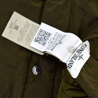 Stone Island green reversible nylon metal bomber jacket L