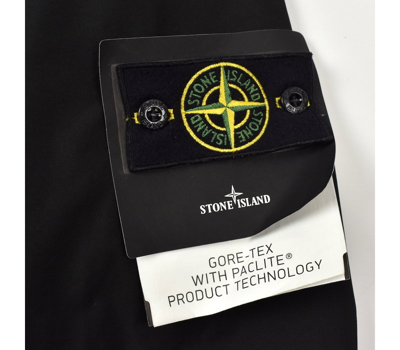 Stone Island black packable gore-tex with paclite field jacket S