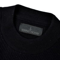 Stone Island navy ghost piece crew neck knit M