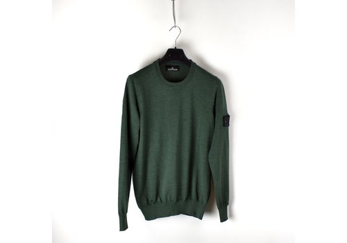 Stone Island Stone Island shadow project green stretch wool crew neck knit L