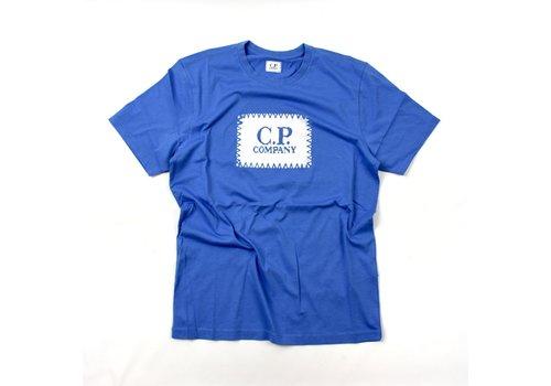 C.P. Company C.P. Company jersey 30/1 label print crew t-shirt Riviera Blue