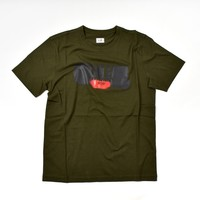 C.P. Company jersey 30/1 brush logo print crew t-shirt Forest Night
