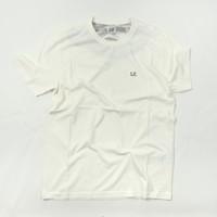 C.P. Company jersey 30/1 goggle hood print crew t-shirt Gauze White
