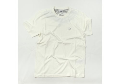 C.P. Company C.P. Company jersey 30/1 goggle hood print crew t-shirt Gauze White