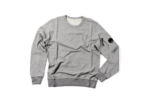C.P. Company C.P. Company garment dyed light fleece lens crew sweatshirt Grey Marl