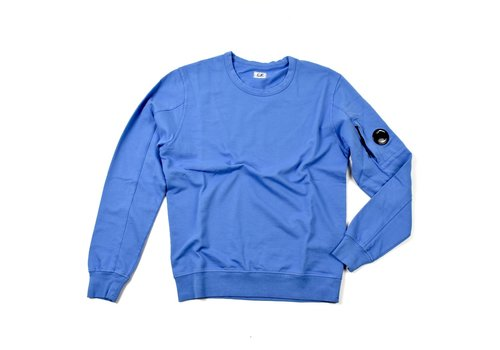 C.P. Company C.P. Company garment dyed light fleece lens crew sweatshirt Riviera Blue