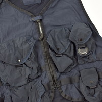 C.P. Company 50 fili lens detail utility vest Dark Navy