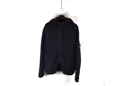 Stone Island Stone Island navy cotton down lined presidents knit L