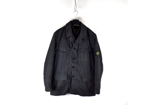 Stone Island Stone Island black ventile jacket with detachable liner XL