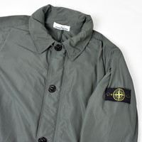 Stone Island grey micro reps trench coat XL