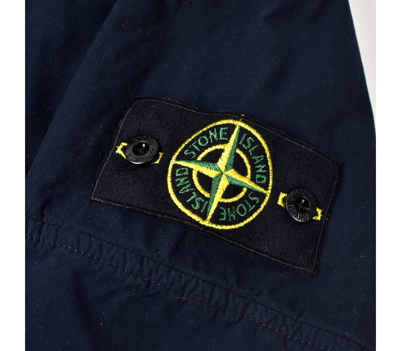 Stone Island navy david light-tc with micropile trench coat L