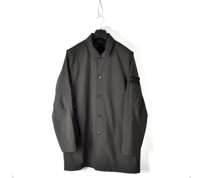 Stone Island grey monochromatic ghost 5l poliestere trench coat XXL
