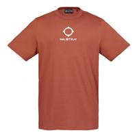 MA.STRUM SS archive logo print tee Burnt Orange