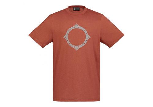 MA.STRUM MA.STRUM SS reflective logo tee Burnt Orange