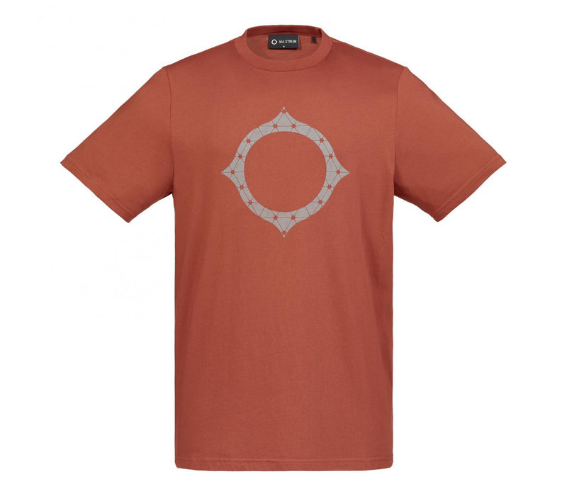 MA.STRUM SS reflective logo tee Burnt Orange