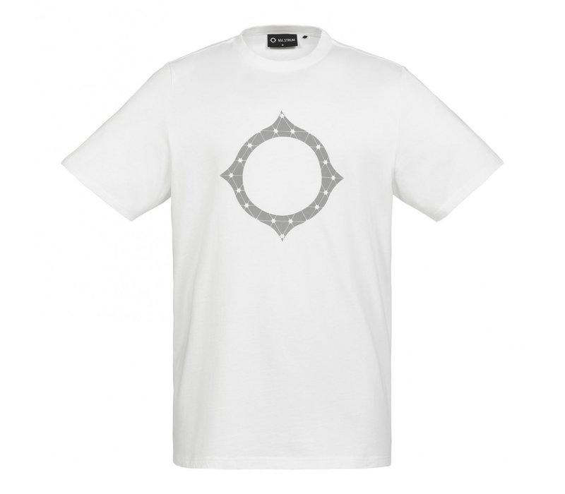 MA.STRUM SS reflective logo tee Optic White