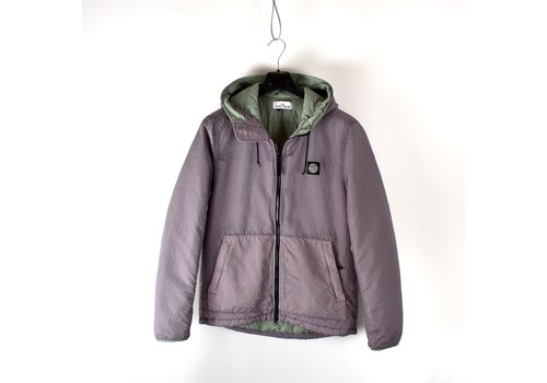 Stone Island Stone Island pink poly-colour frame with primaloft-tc hooded jacket M