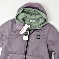 Stone Island pink poly-colour frame with primaloft-tc hooded jacket M