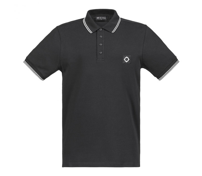 MA.STRUM SS icon jersey polo Jet Black