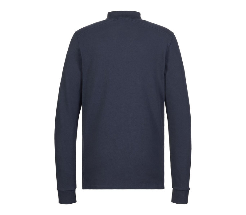 MA.STRUM LS pique polo True Navy