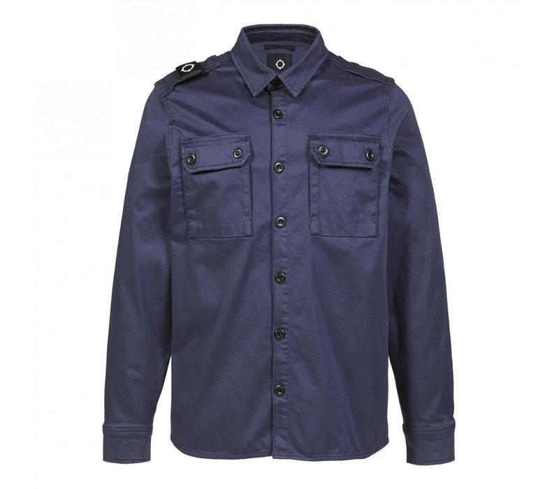 MA.STRUM two pocket overshirt True Navy