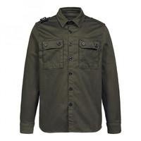 MA.STRUM two pocket overshirt Oil Slick Green