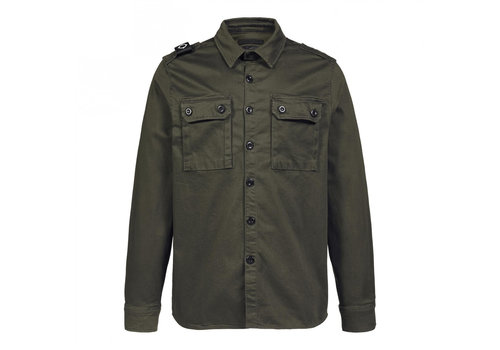 MA.STRUM MA.STRUM two pocket overshirt Oil Slick Green
