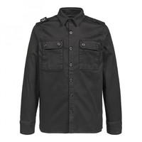 MA.STRUM two pocket overshirt Jet Black