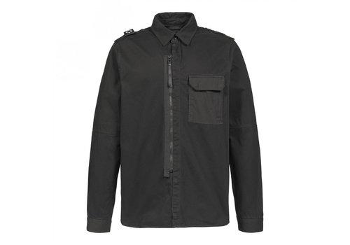 MA.STRUM MA.STRUM zip front overshirt Jet Black