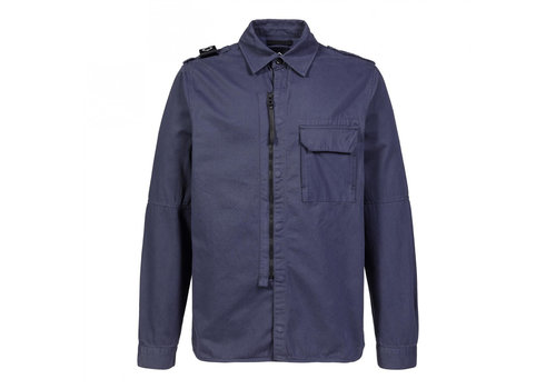 MA.STRUM MA.STRUM zip front overshirt True Navy