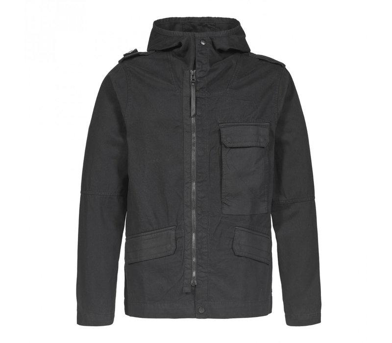 MA.STRUM cg hooded jacket Jet Black