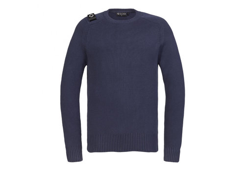 MA.STRUM MA.STRUM Milano knit crew neck True Navy
