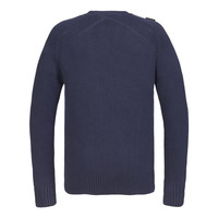 MA.STRUM Milano knit crew neck True Navy