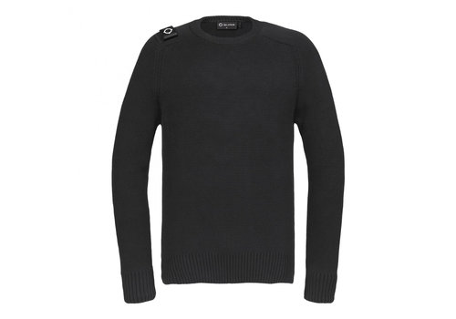 MA.STRUM MA.STRUM Milano knit crew neck Jet Black