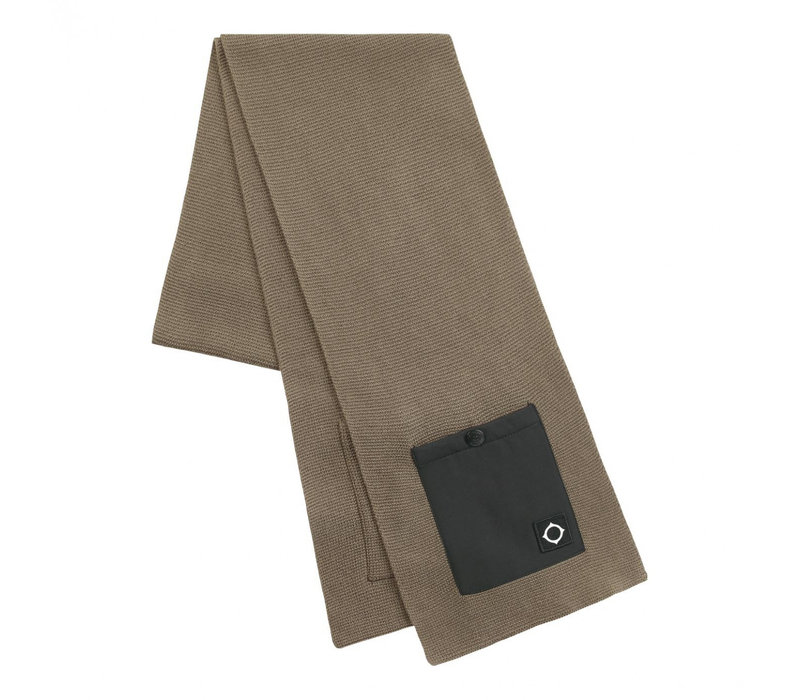MA.STRUM Milano knit scarf Timber Wolf Brown