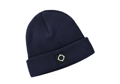 MA.STRUM MA.STRUM Milano knit hat True Navy