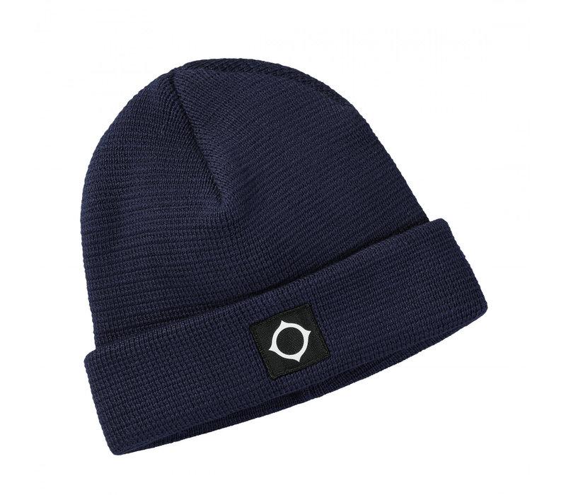 MA.STRUM Milano knit hat True Navy